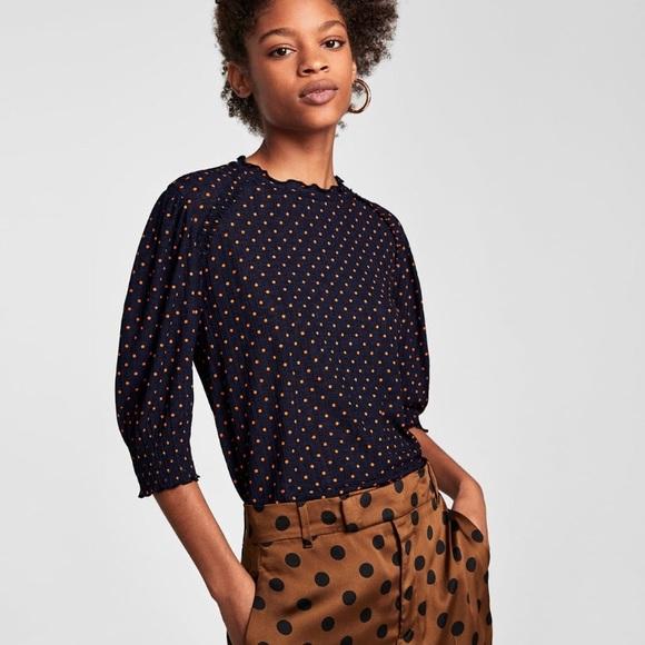 ccf599b7d08 NWT Zara Polka Dot T-Shirt